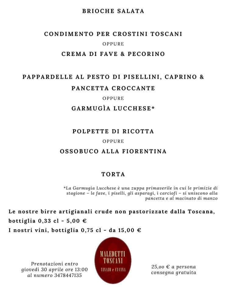 il pranzo del primo maggio a domicilio a Roma