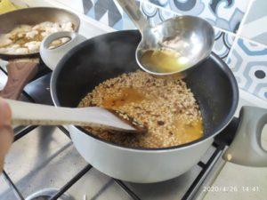 Risotto all' arancia con gamberetti, timo e mascarpone - ilbuonoeilbello