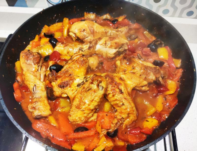 pollo con i peperoni facile